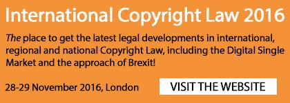 News: International Copyright Law 2016